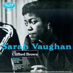 Sarah Vaughan with Clifford Brown album cover
