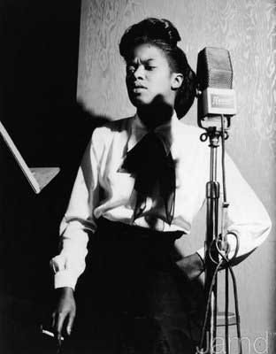 Sarah Vaughan early in her carrer